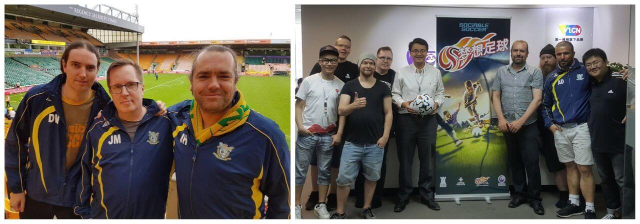 Jon Hare and Sociable Soccer Team
